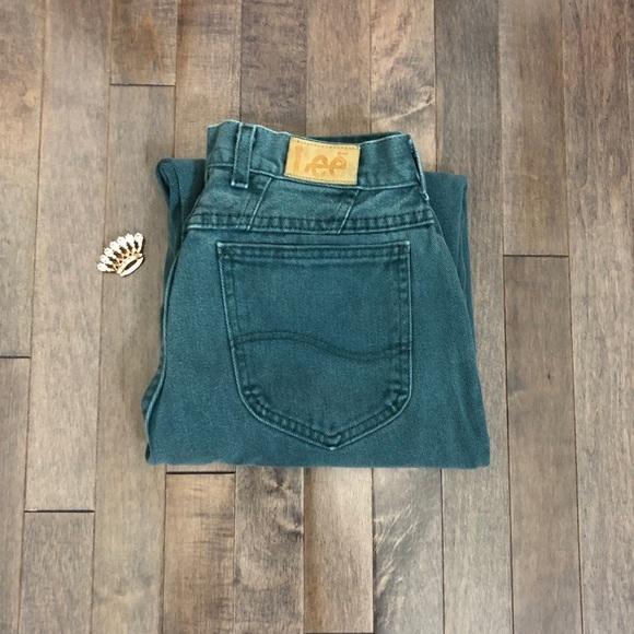 Lee Denim - Vintage Lee Teal High Waist Jeans!!!
